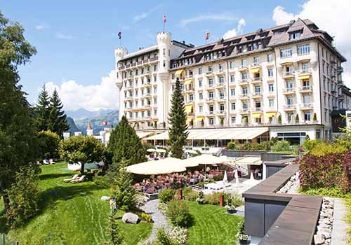 Gstaad Palace Exterior Summer