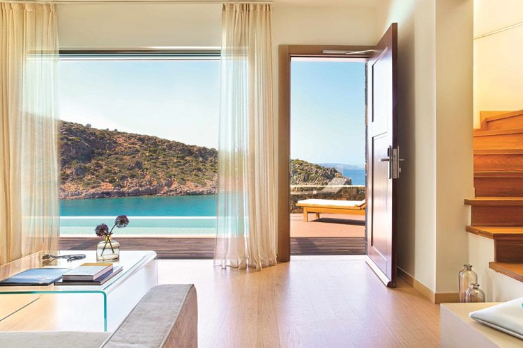 Room with private pool and sea view Daios Cove
