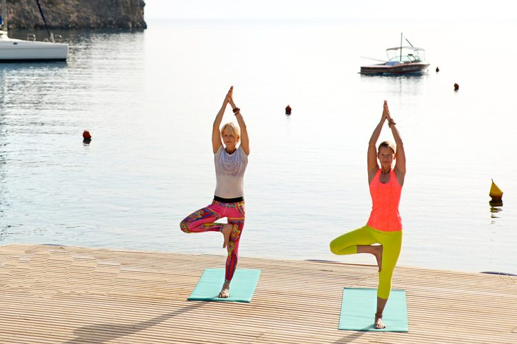 Yoga with sea view Daios Cove
