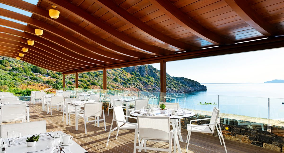 Daios Cove Hotel-outside restaurant