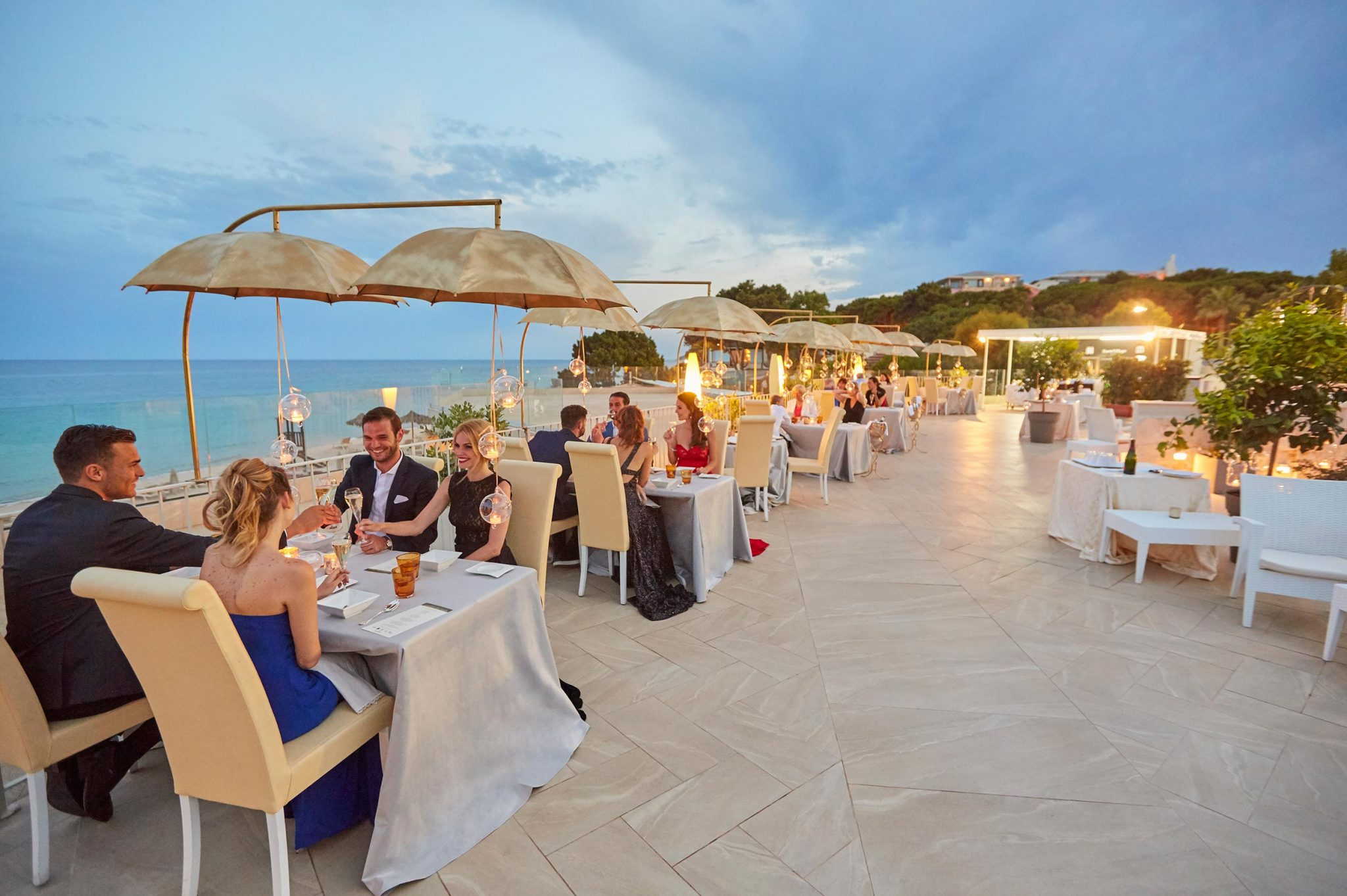 Seaside terrace at Forte Village Resort