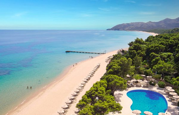 Sea and pool of Forte Village Resort