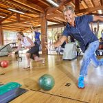 People playing bowling at Forte Village Resort