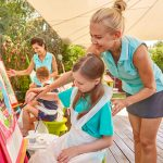 Painting activity for children at Forte Village Resort
