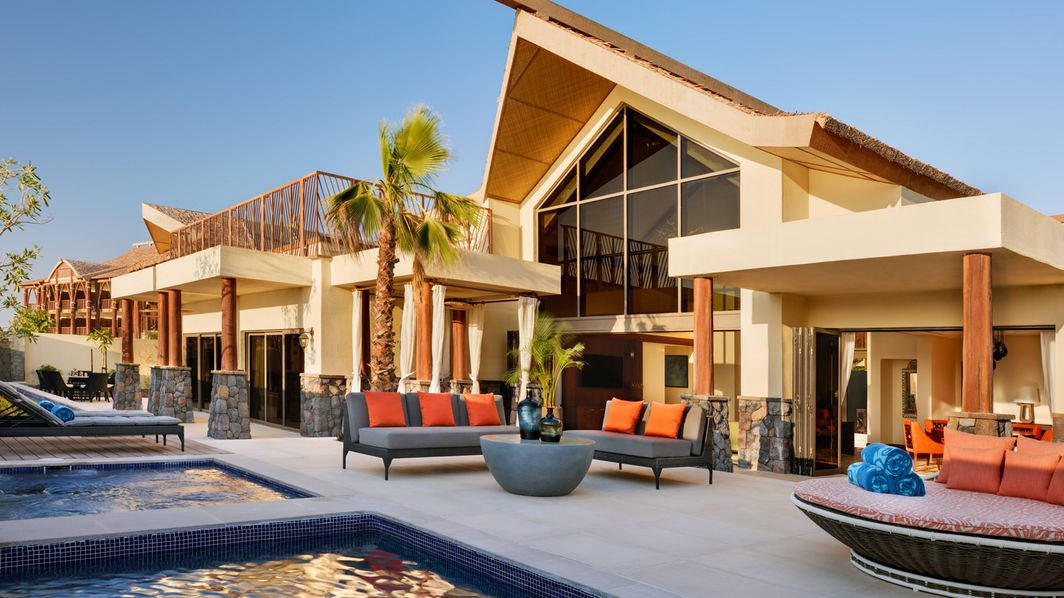 The airy living area of the Villa at Lapita, Dubai Parks and Resorts ****