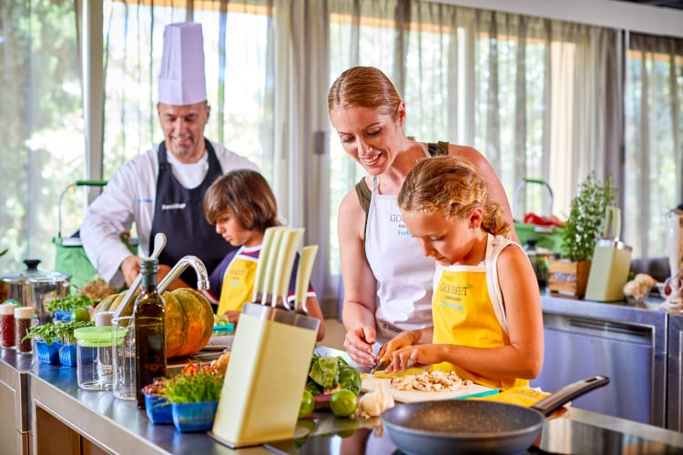 Family time and cooking lessons