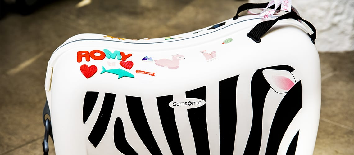 Customise your suitcase with Samsonite