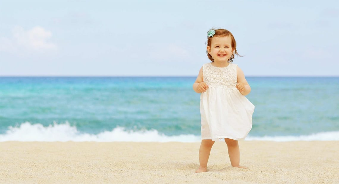 Lux Hotel Bodrum-young girl on the beach