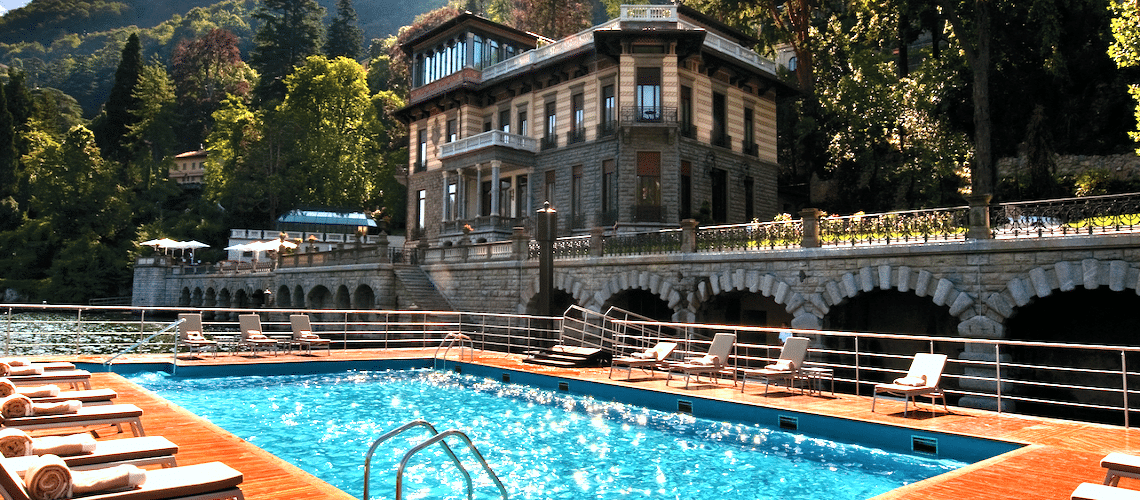 The amazing outdoor pool of the CastaDiva hotel in Italy - Lake Como