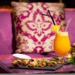 Hotel Selman Marrakech Snacks and a fresh juice at the bar