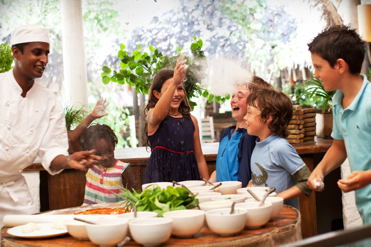 Hotel Soneva Fushi cooking classes for kids