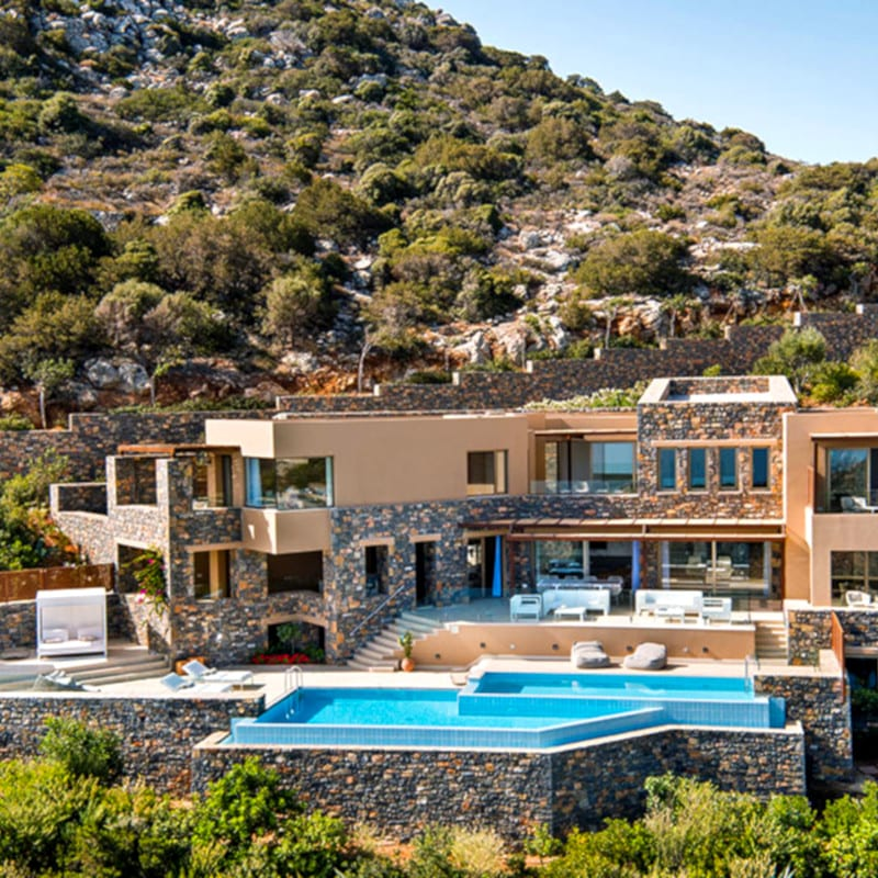 The Mansion villa in Greece, in the Daios Cove resort