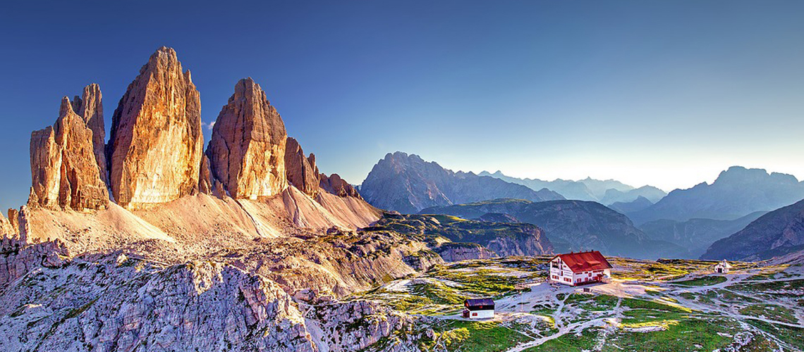 Wonderfull mountains landscapes in the Dolomites