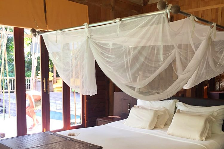 Parents room of the Soneva Kiri