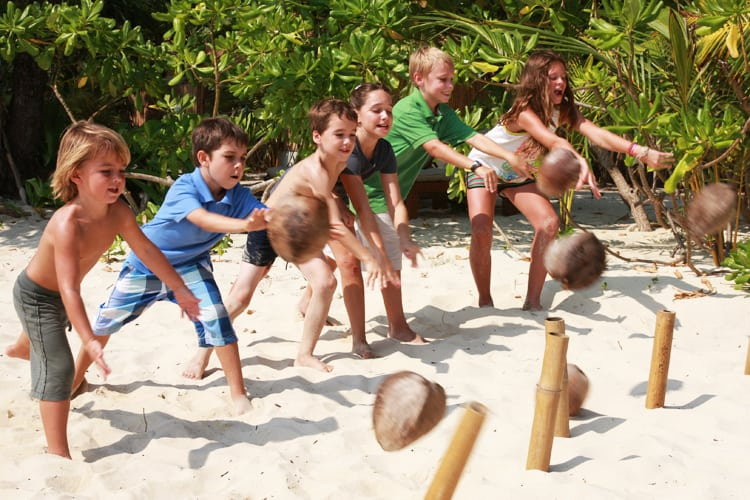 Kids games on the beach Soneva Kiri *****