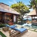 Villa's private pool and terrace at Constance Belle Mare Plage