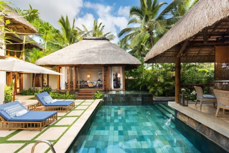 Villa's private pool at Constance Belle Mare Plage