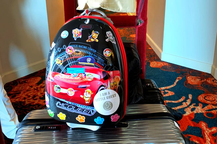 Customised Little Guest suitcase for children