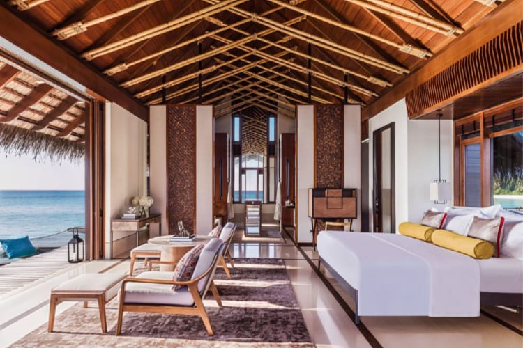 One & Only Reethi Rah  Beachfront bedroom