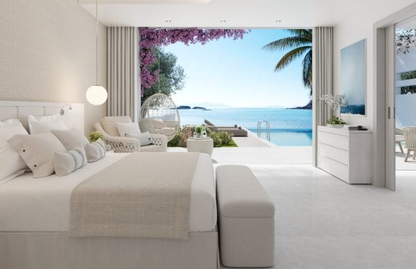 Suite Deluxe with private pool at Ikos Aria