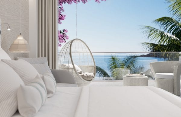 Suite with sea view terrace at Ikos Aria