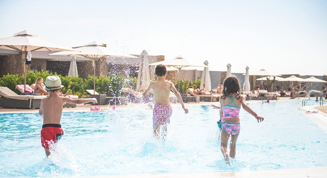 Ikos resort kids having fun