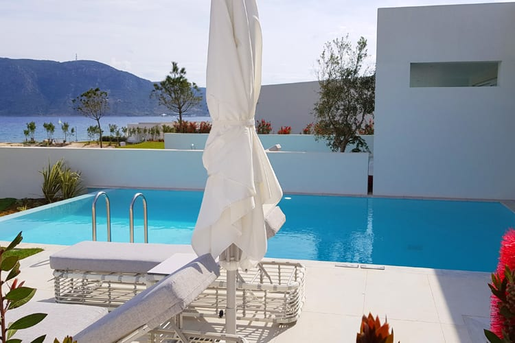 A villa with private pool at the Ikos Aria hotel in Kos