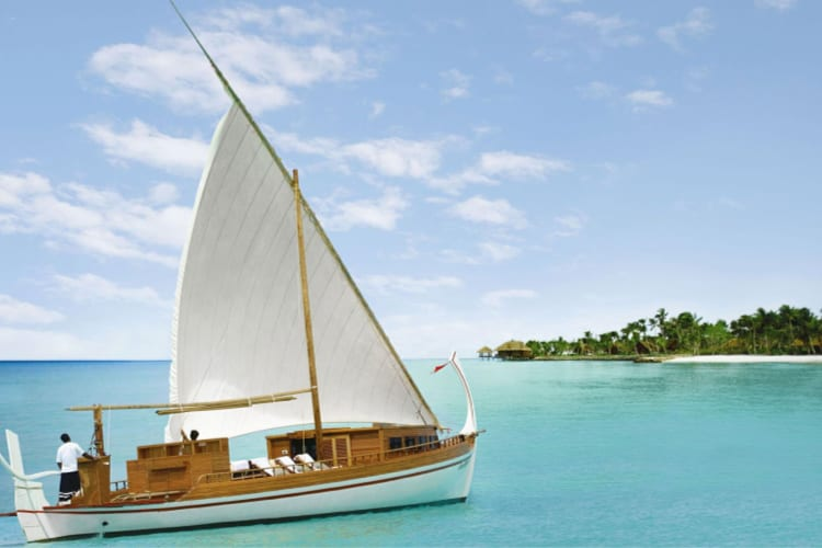 One & Only Reethi Rah Boat on the sea