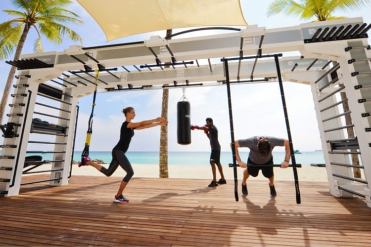 One & Only Reethi Rah Outdoor fitness room