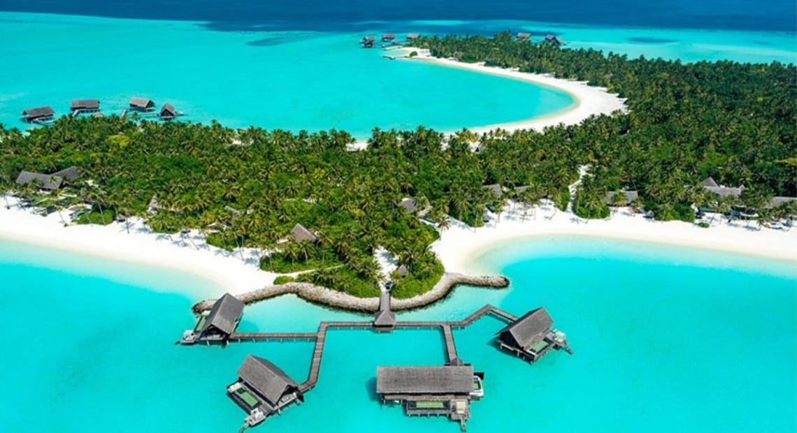 Aerial view of One & Only Maldives