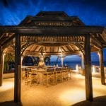Blue Waters Resort & Spa belvedere with table for dinner