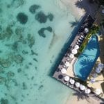 Blue Waters Resort & Spa seen from the sky