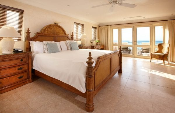 Blue Waters Resort & Spa bedroom with double bed