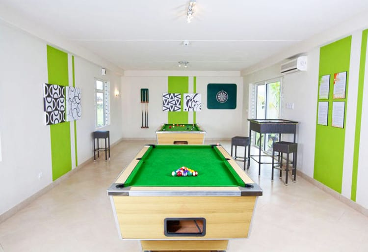 Games Room at Lux Tamassa in Maurice Island