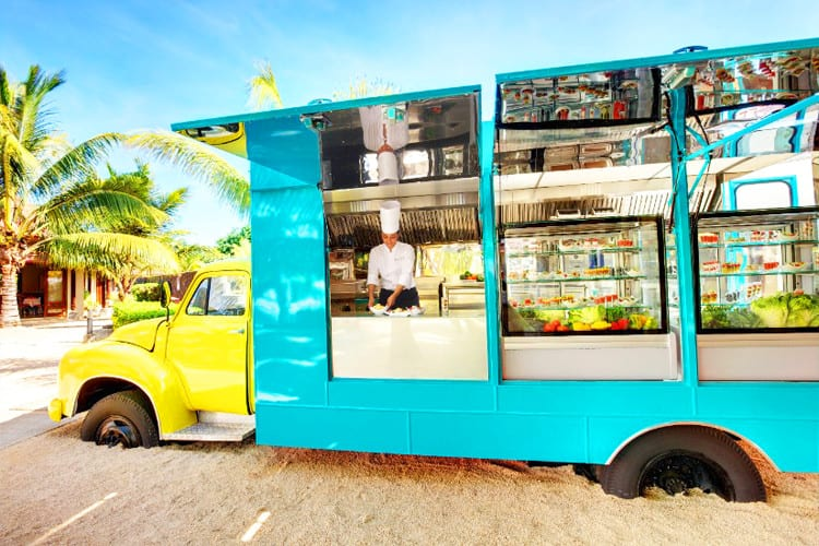 Food truck at Lux Tamassa in Maurice Island