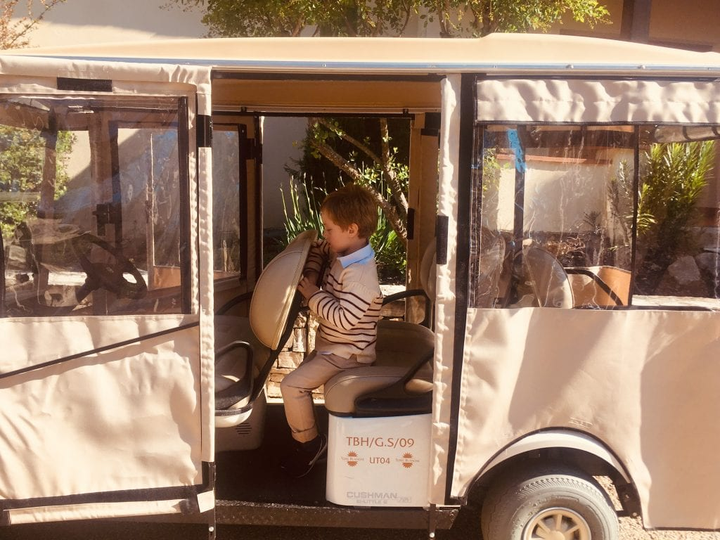 Buggy of the Terre Blanche Hotel Spa Golf Resort