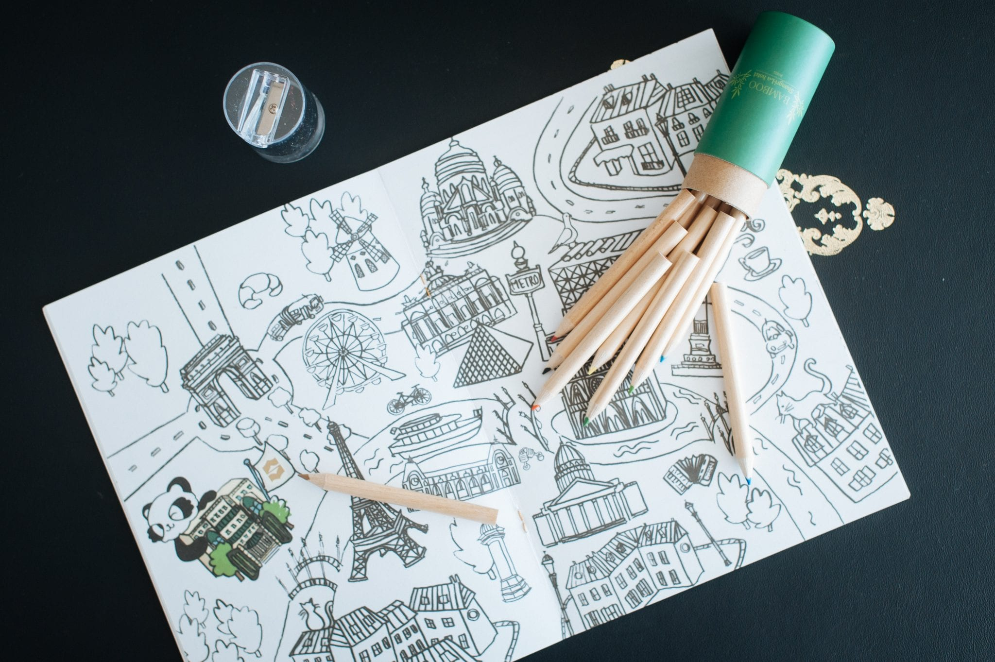 Shangri-La Paris Activity colouring