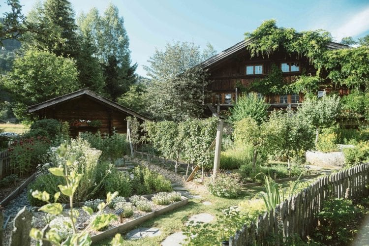 Garden of Fermes de Marie in Megeve