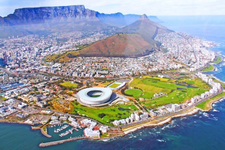 Cape Town seen from above