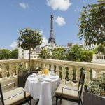 Shangri-La Paris Breakfast with a view