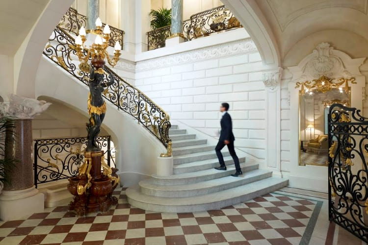 Shangri-La Paris Historical stairs