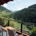Outdoor  terrace facing the mountains Sport Hotel Hermitage & Spa *****