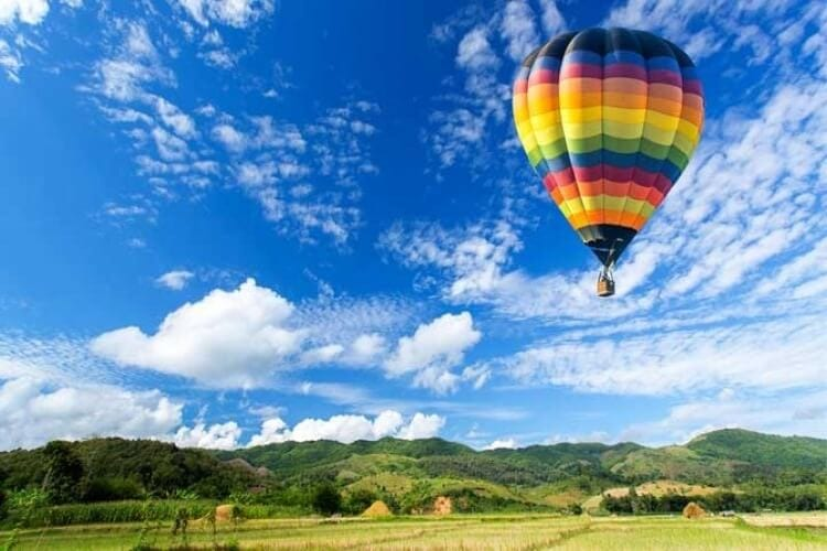 Ballooning experience in Punta Ala in Tuscany