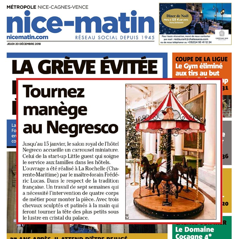 Nice matin Parution Little Guest