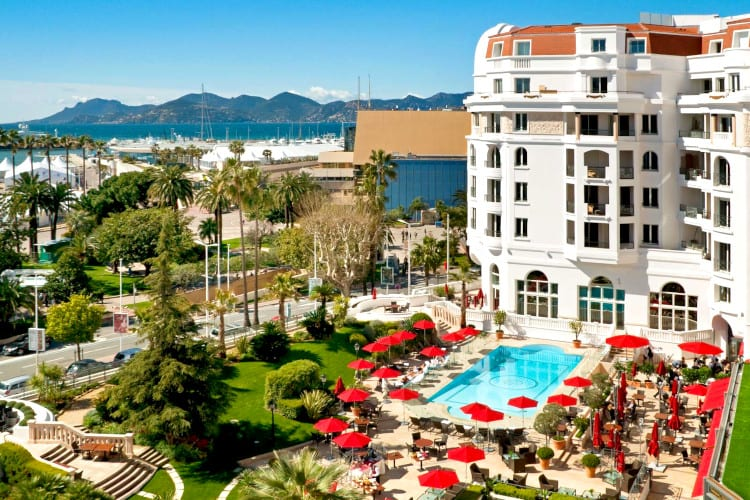 View of the Hotel Barrière Le Majestic Cannes