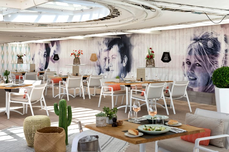 Lovely terrace restaurant of the Hotel Barrière Le Majestic Cannes