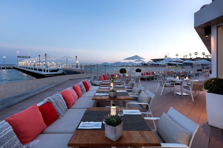 Super terrace restaurant at the Hotel Barrière Le Majestic Cannes