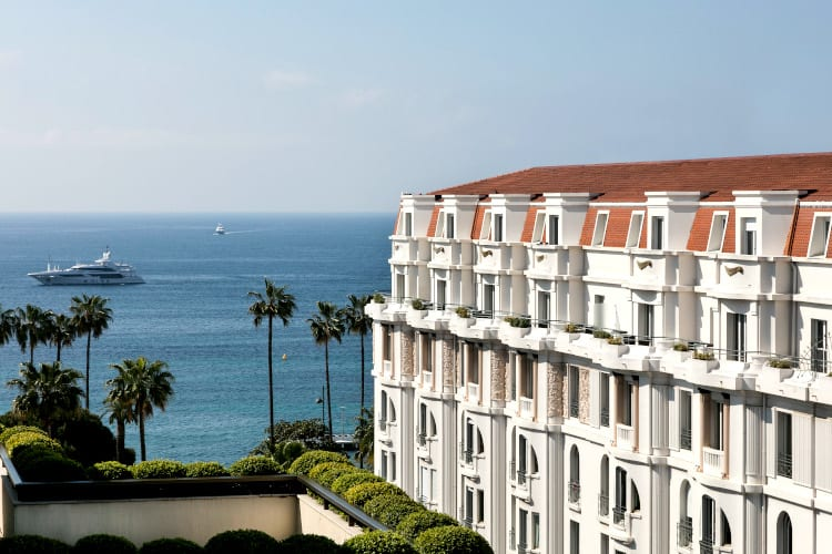 Sea View at Hotel Barriere Le Gray d'Albion in Cannes