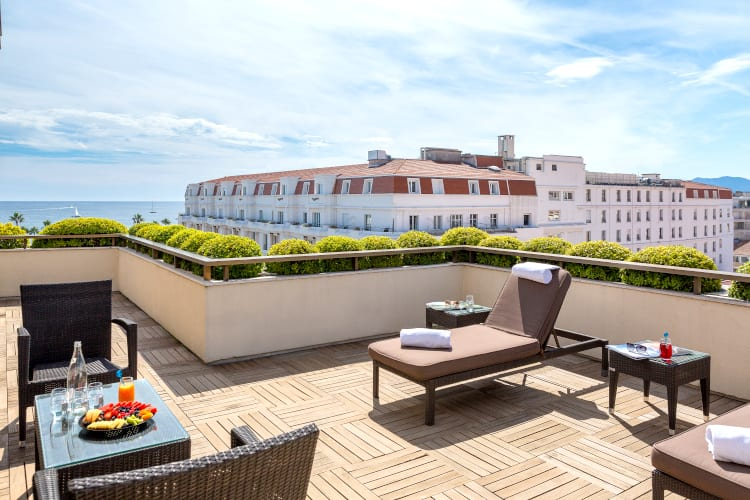 Panoramic View at Hotel Barriere Le Gray d'Albion in Cannes