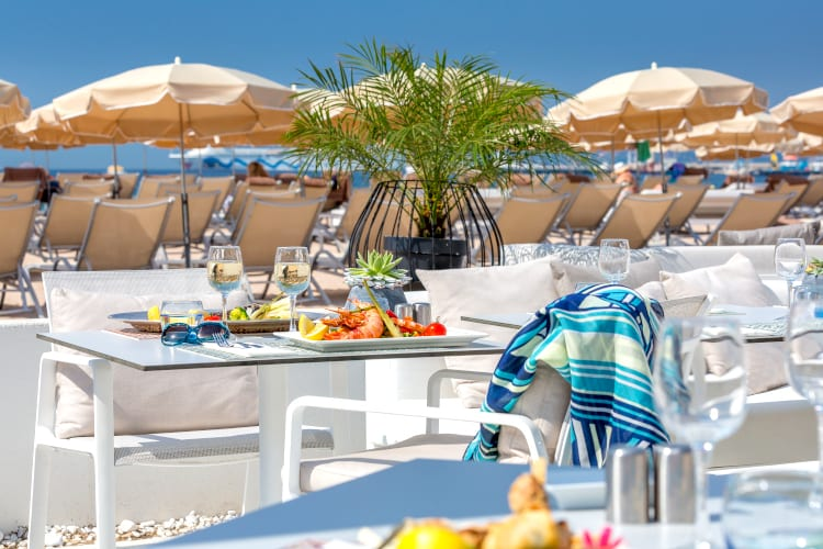Beach Restaurant at Hotel Barriere Le Gray d'Albion in Cannes